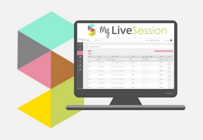 Mylivesession Manager - interface desktop